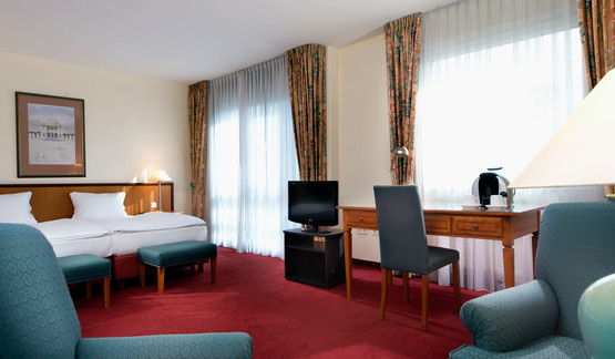 Spacious Studio with twin beds in Wyndham Garden Hennigsdorf hotel | © Wyndham Garden Hennigsdorf Berlin