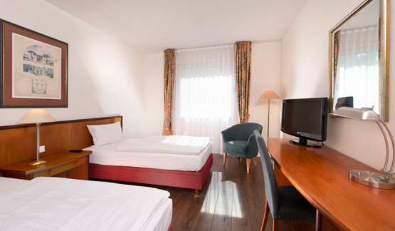 Business room with twin beds in Wyndham Garden Hotel Hennigsdorf | © Wyndham Garden Hennigsdorf Berlin